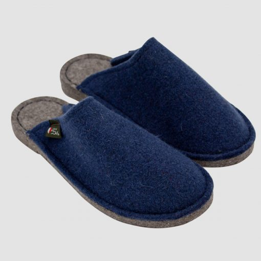 Pantofole feltro blu
