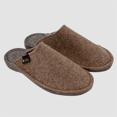 Pantofole feltro marroni