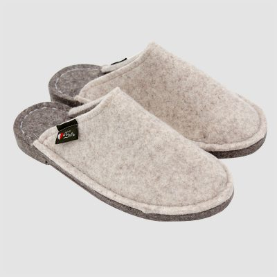 Pantofole feltro beige