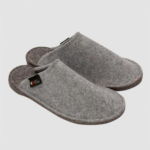 Pantofole feltro grigie